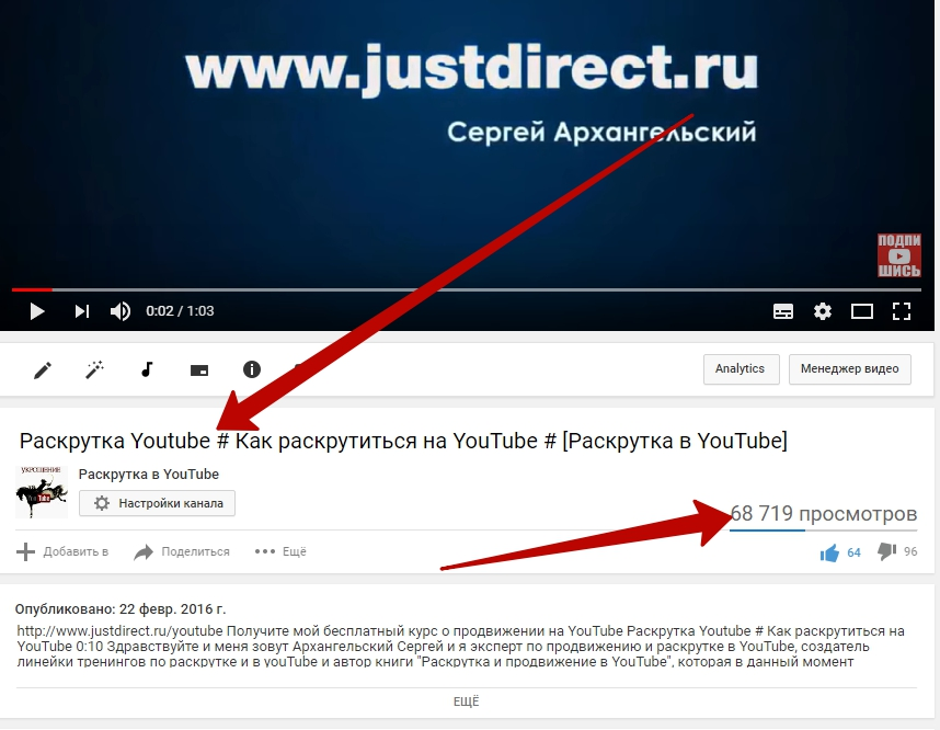 как название ролика влияет на продвижение его в YouTube